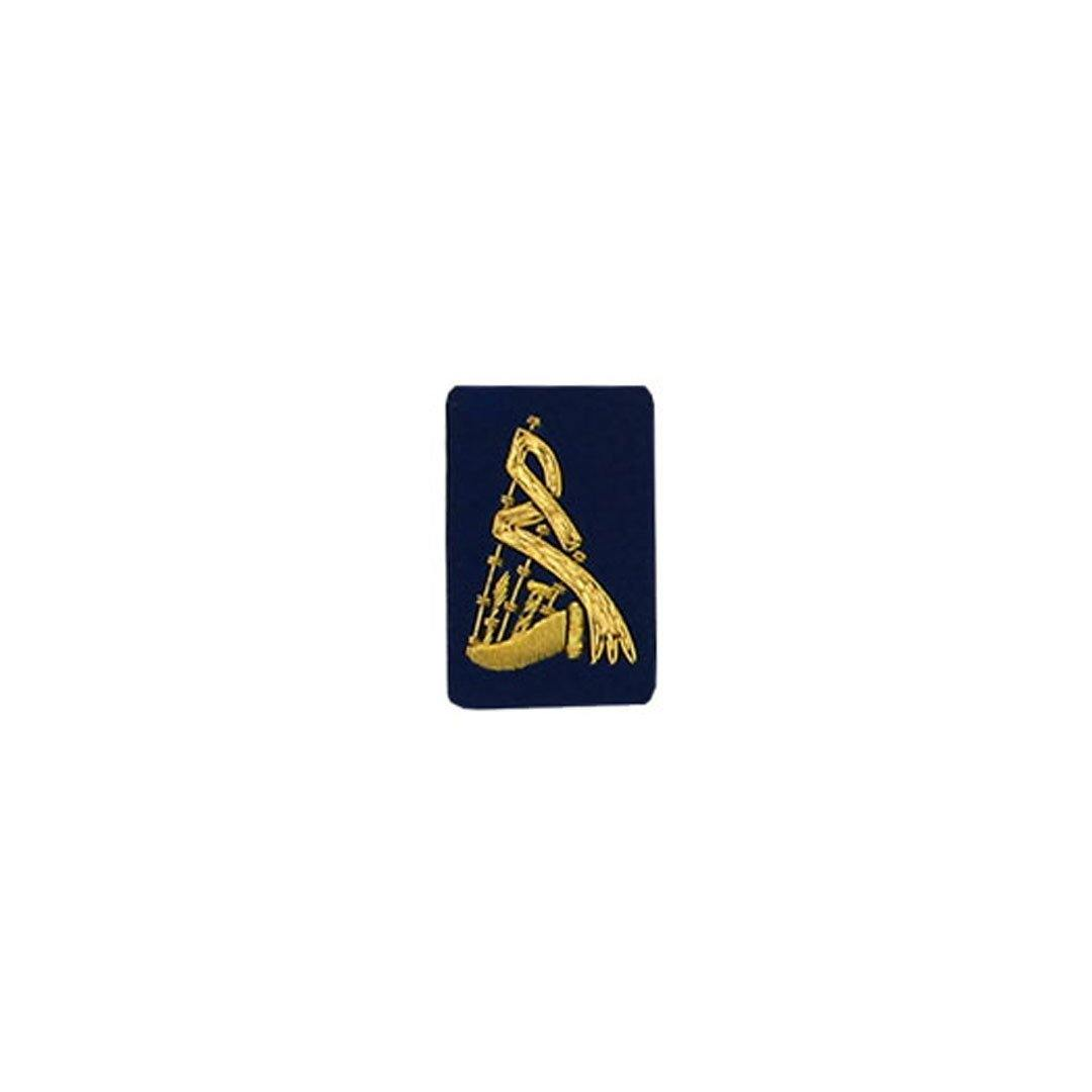 imperial-highland-supplies-bagpipe-badge-gold-bullion-on-dark-blue