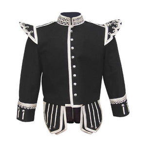 imperial-highland-supplies-black-pipe-band-doublet-with-silver-buttons-and-scrolling-silver-braid