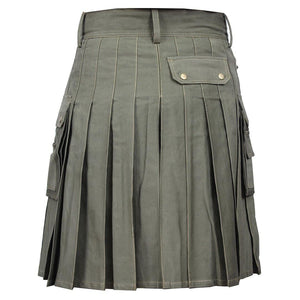 imperial-highland-supplies-classic-men-utility-kilt-heavy-cotton-olive-green-color-back