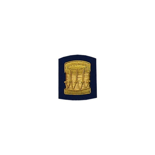 imperial-highland-supplies-drum-badge-gold-bullion-on-dark-blue