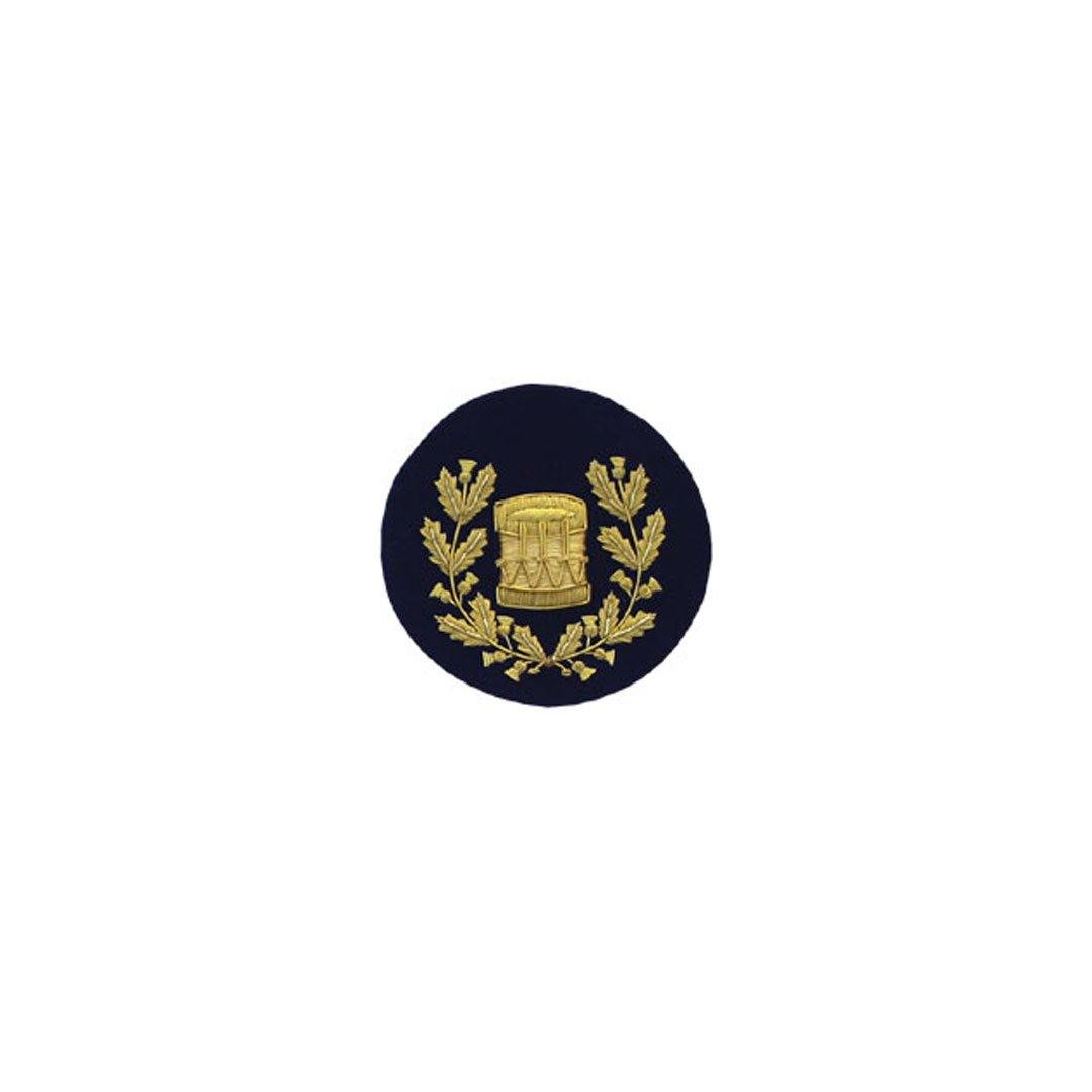 imperial-highland-supplies-drum-major-badge-gold-bullion-on-dark-blue