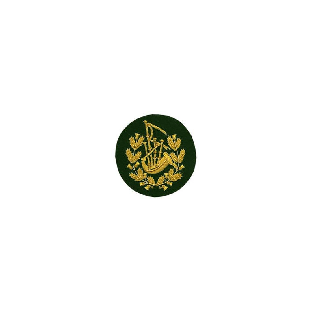 imperial-highland-supplies-pipe-major-badge-gold-bullion-on-green