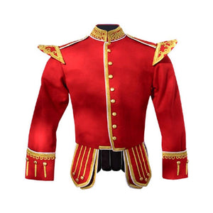 imperial-highland-supplies-red-pipe-band-doublet-with-scrolling-gold-braid