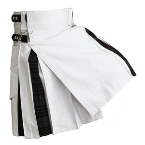 imperial-highland-supplies-white-hybrid-kilt-with-grey-watch-tartan-back
