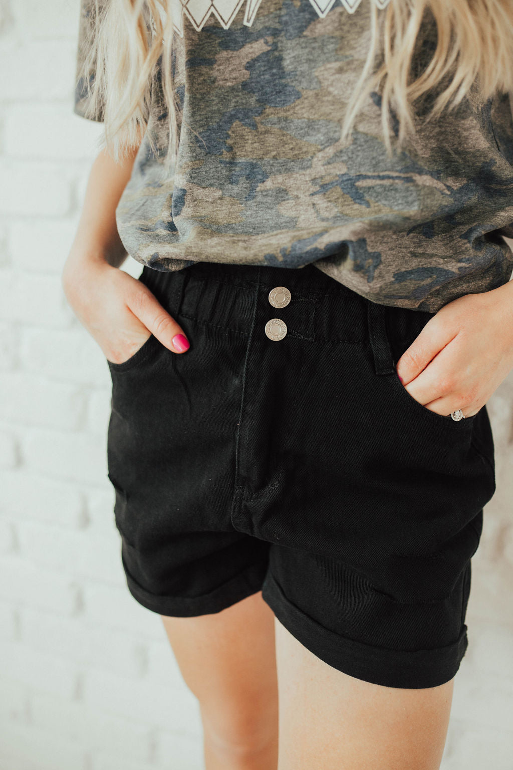 Baby Doll Distressed Denim Shorts