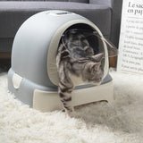 Cat Litter Box Reduces Litter Tracking Odor Large Cat Litter Box Hooded Litter Tray Kitten Toilet Well Designed Space Efficient