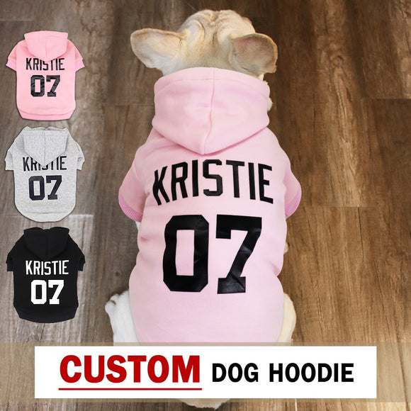 Custom Dog Hoodies Large Dog Clothes Personalized Pet Name Clothing French Bulldog Clothes for Small Medium Large Dogs XS-6XL