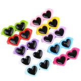 New Pet Lovely Heart Sunglasses Hairpins Pet Dog Bows Hair Clips for Puppy Dogs Cat Yorkie Teddy Pet Hair Decor Pet Supplies 1pc