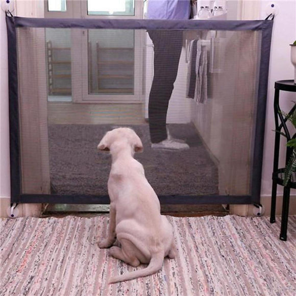 Pet Dog Fence Gate Safe Guard Safety Enclosure Dog Fences Dog Gate The Ingenious Mesh Magic Pet Gate Pet supplies Dropshipping