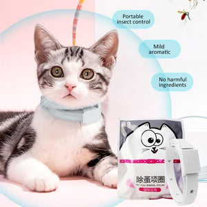 Adjustable Cat & Dog Collar Flea & Tick Prevention Pet Collar Pest Control Protect Rubber Flea Killer Collar Pet Accessories