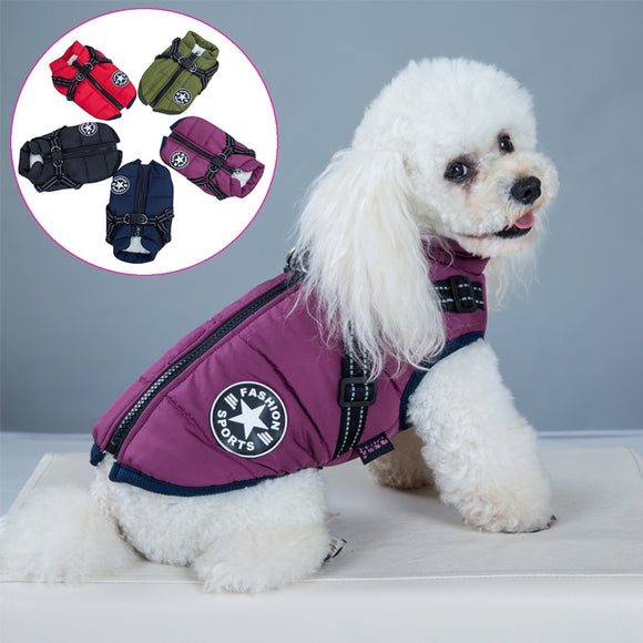 Pet Harness Vest Clothes Puppy Clothing Waterproof Dog Jacket Winter Warm Pet Clothes For Small Dogs Shih Tzu Chihuahua Pug Coat