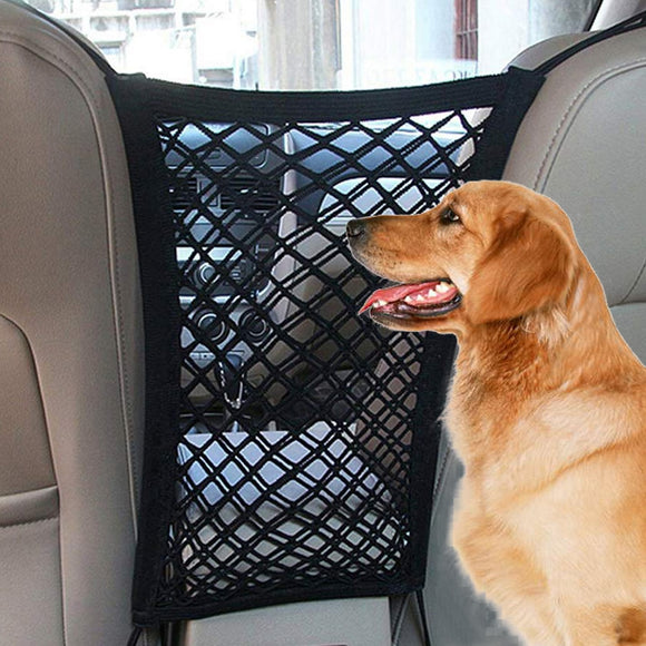 Dog seat cover car protection net safety storage bag Pet Mesh Travel Isolation Back Seat Safety Barrier perro puppy accessories