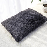Long Plush Dog Bed Pet Cushion Blanket Soft Fleece Cat Cushion Puppy Chihuahua Sofa Mat Pad For Small Large Dogs