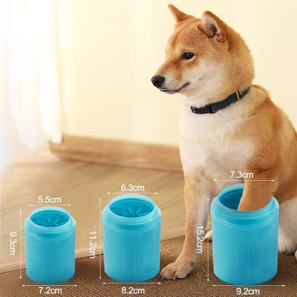 S/M/L Dog Paw Cleaner Cup Soft Silicone Combs Portable Outdoor Pet Foot Washer Cup Paw Clean Brush Quickly Wash Cleaning Bucket