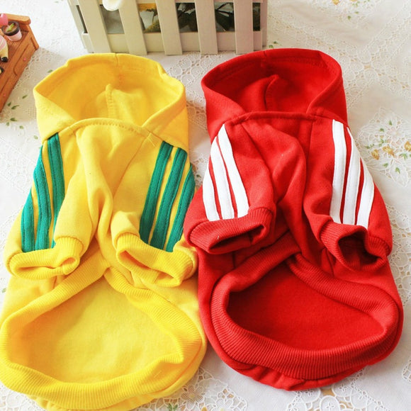 Hoodie Dog Clothes Pet Striped for Dogs Clothing Super Small Outfits Cute Autumn Yorkies Warm Yollow Cotton Boy Ropa Para Perro