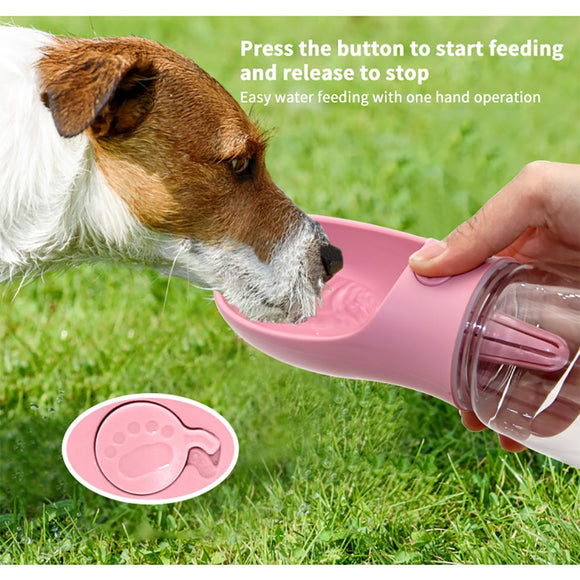 Dog Water Bottle Portable Pet Water Dispenser Feeder for Puppy Medium Large Dogs Pet Travel Drink Bowl Dog Accessories Outdoor