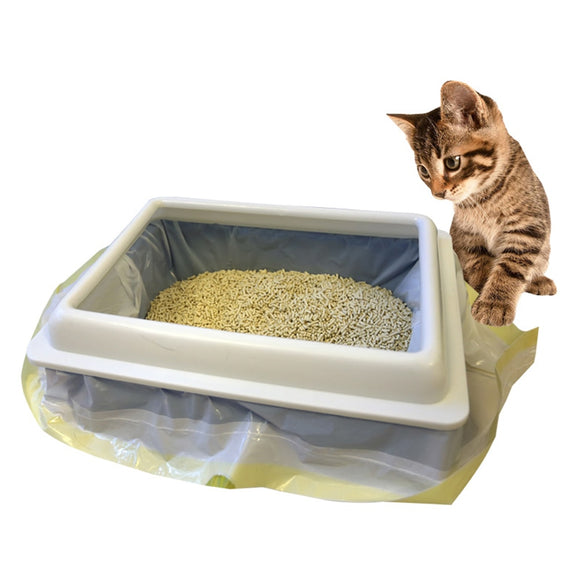 Pet Bag Cats Litter Box Mat Cat Litter Pan Bags Kitten Storage Bag Pets Cleaning Supplies For Cat Sand Portable Garbage Bag