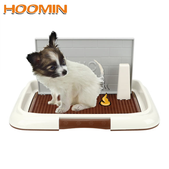 HOOMIN Portable Pet Toliet Training with Pillar Toilet Mat Training Potty Dog Pad Tray Toilet Training Urinary Trainer Pee Pad