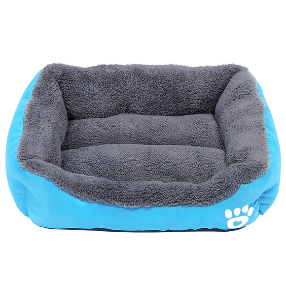 S-3XL Dogs Bed For Small Medium Large Dogs Big Basket Pet House Waterproof Bottom Soft Fleece Warm Cat Bed Sofa House