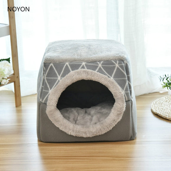 Pet bed for Cats Dogs Soft Nest Kennel Bed Cave House Sleeping Bag Mat Pad Tent Pets Winter Warm Cozy Beds  cat tent  sofa bed