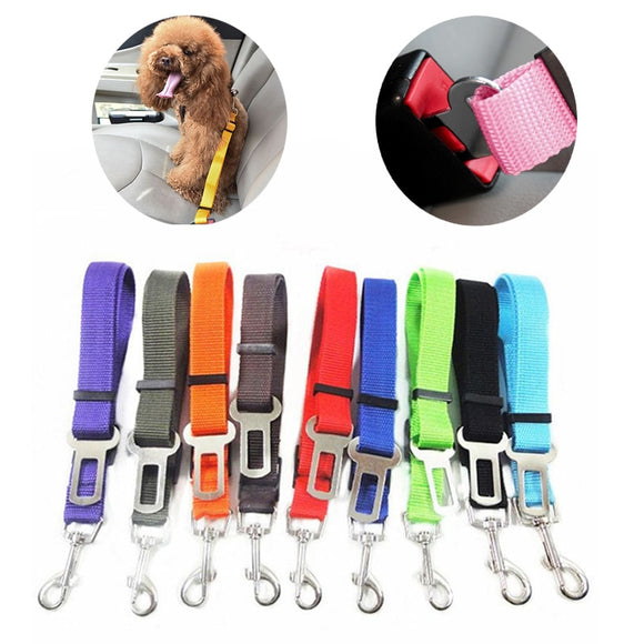 Pet Dog Cat Car Seat Belt Seatbelt Adjustable Harness Lead Leash for Small Medium Dogs Pet Supplies Safety Lever Traction Collar