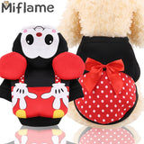 Miflame Couple Dog Clothes With Bow Pet Clothes For Small Medium Dog Hoodies Chihuahua Poodle Clothes Dog Sweater Pet Sweatshirt