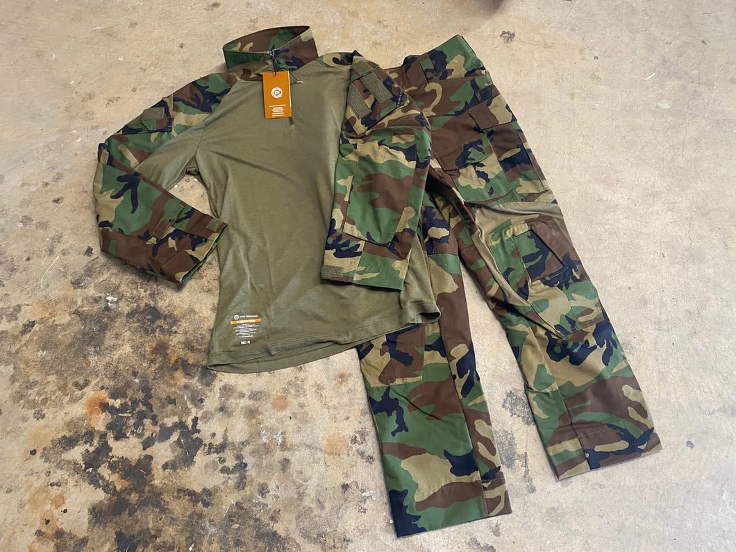 Crye Precision Gen 3 Set Combat Shirt and Pants M81 Woodland