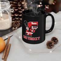 Alternative Hero - 8-Bit Detroit Hockey Black mug 11oz -