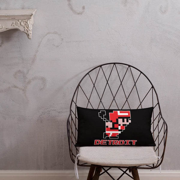 Alternative Hero - 8-Bit Detroit Hockey Premium Pillow -