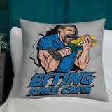 Alternative Hero - Biting Knee Caps Premium Pillow