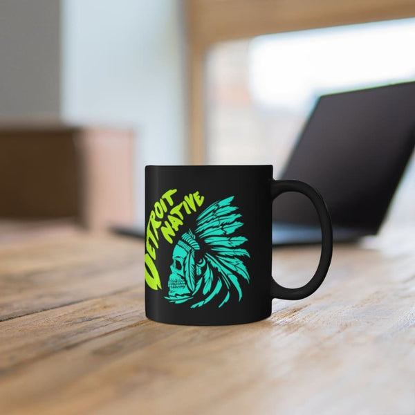 Alternative Hero - Detroit Native Black mug 11oz - 11oz -