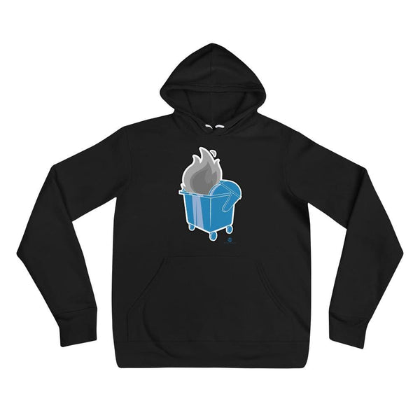 Alternative Hero - Dumpster Fire Unisex hoodie - Black / S