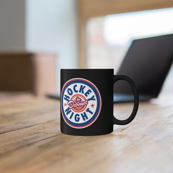 Alternative Hero - Hockey Night in Detroyet Black mug 11oz -