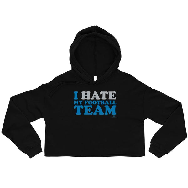 Alternative Hero - I Hate My Football Team Crop Hoodie - S