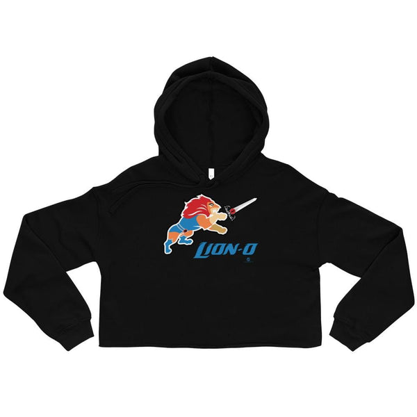 Alternative Hero - Lion-O Crop Hoodie - Black / S