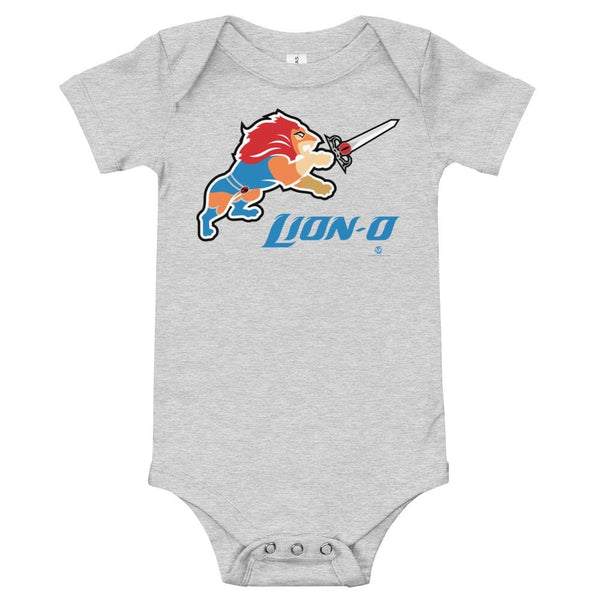 Alternative Hero - Lion-O Onesie - Athletic Heather / 3-6m
