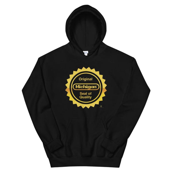 Alternative Hero - Michigan Seal Basic Unisex Hoodie - Black