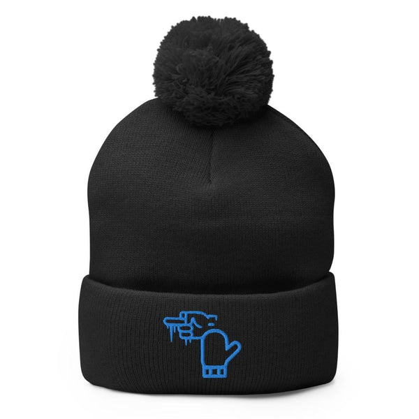 Alternative Hero - Michigan Winter Pom-Pom Beanie - Black