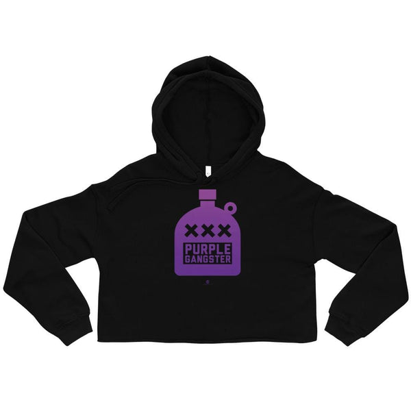 Alternative Hero - Purple Gangster Crop Hoodie - Black / S