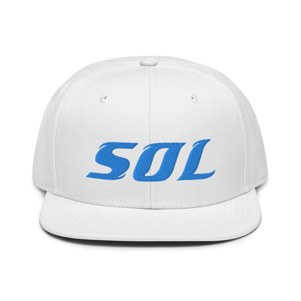 Alternative Hero - SOL Embroidered Snapback Hat - White