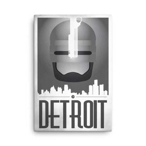 RetroCop Detroit 24x36 Gallery Wrapped Canvas
