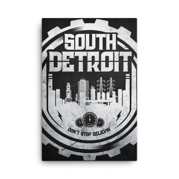 South Detroit 24x36 Gallery Wrapped Canvas
