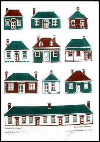 Battery Point Colonial Cottages - COTTON TEA TOWEL