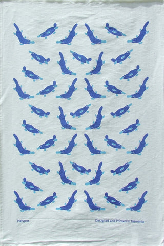 BLUE PLATYPUS - LINEN/COTTON TEA TOWEL