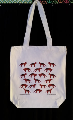 Cotton Canvas Tote Tasmanian Tiger