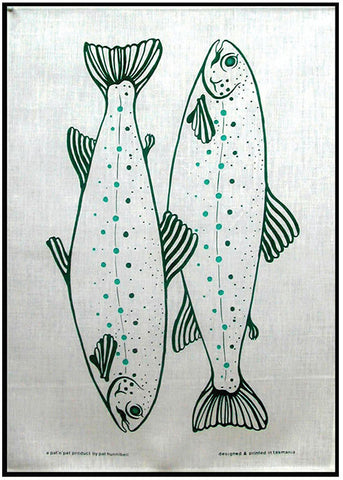 TASMANIAN RIVER TROUT  - Durable Cotton Tea Towel