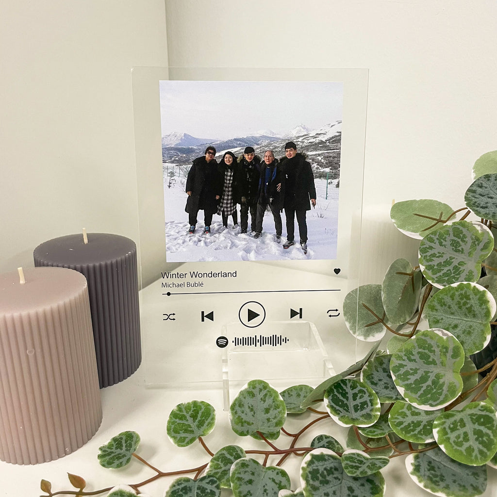 Friends photo in acrylic spotify music album