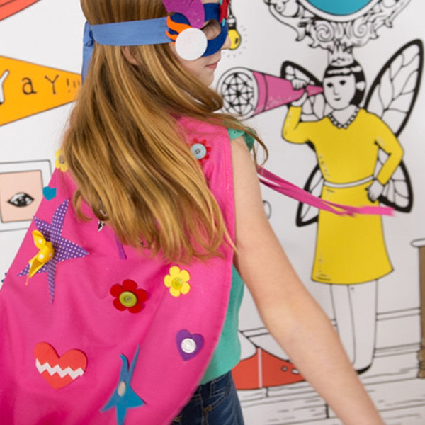 Design Your Own Superhero Cape Pink