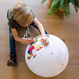Color the Earth Inflatable Ball