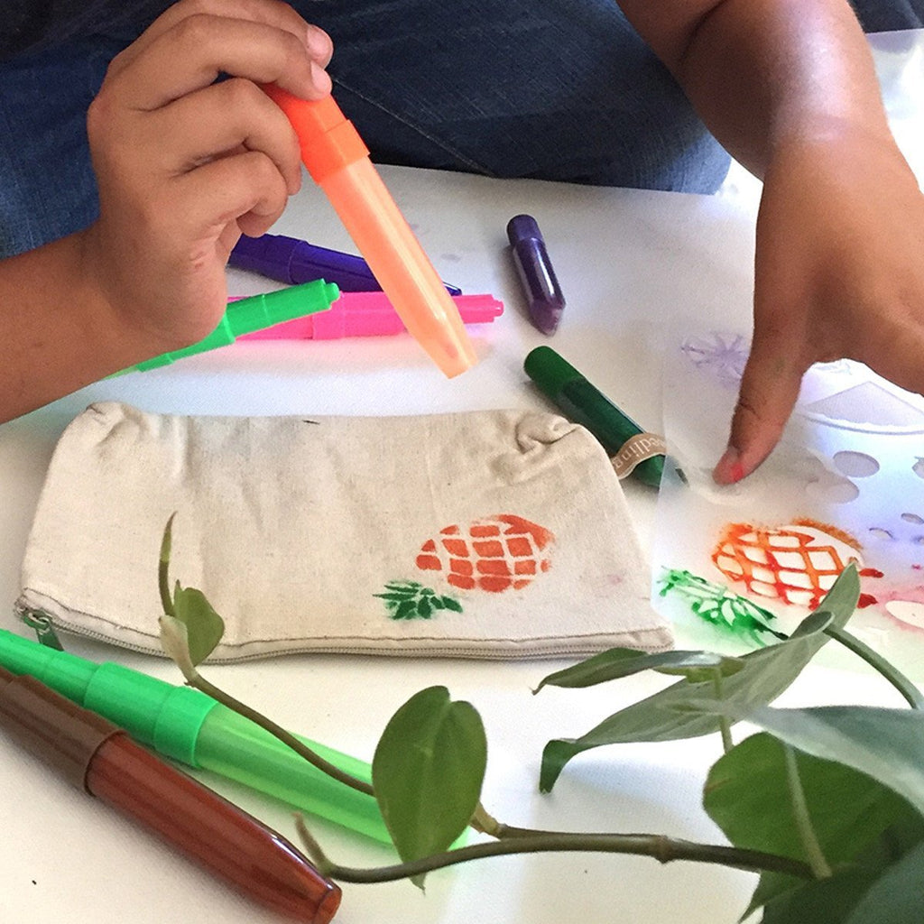 Fruity Fun Stencil Pencil Case